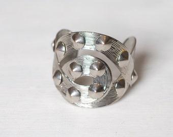 Silver Spike Cuff Bracelet
