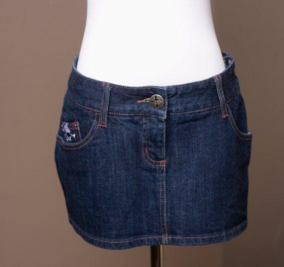 Skimpy Blood - Jean Mini Skirt - By Lip Service