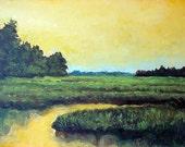Original oil painting canvas panel.