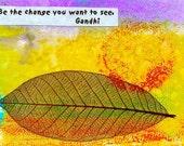 Gandhi/ Be the change/ postcard