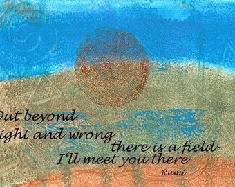 Beyond right and wrong/ art postcard