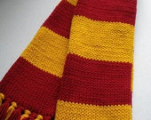 Harry Potter inspired Maroon and Gold Scarf