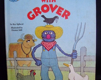 Sesame Street Down on the Farm with Grover Book, Muppet's, Classic Kids Books