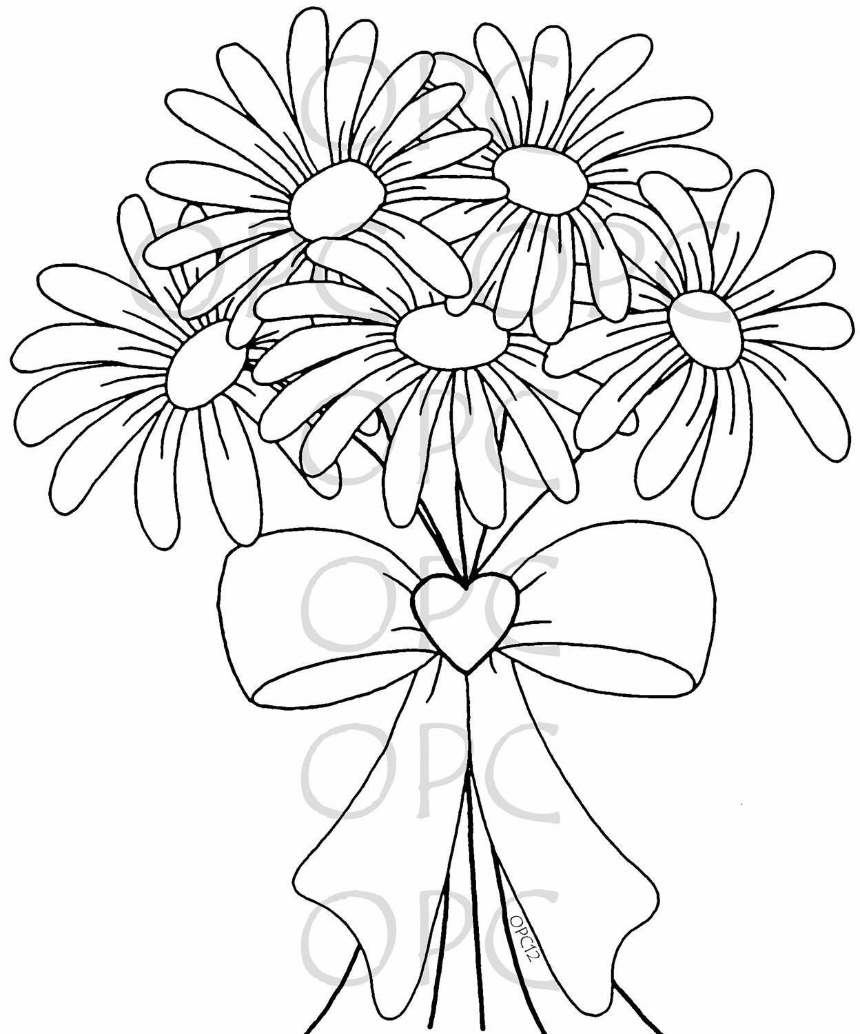 Gerber daisy free colouring pages for Daisy coloring page