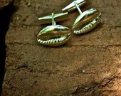 Cuff Links Sterling Silver Jewelry Metal Cowrie Shells Handsome Special Occasion Gifts for Him
