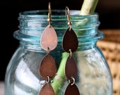 Copper Earrings | Dangle Earrings | Copper Teardrop Earrings