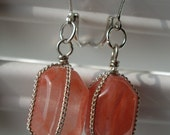 Coral Chunk Earrings
