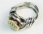 Bullet Shell Casing Ring - Sterling Silver