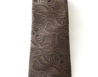 Vintage Neckties Men's 80's Sergio Valente, Skinny Tie, Tan, Black