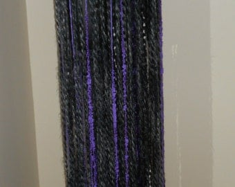 Tribal Fusion Bellydance Greys and Lavender Yarn Belt/ Skirt