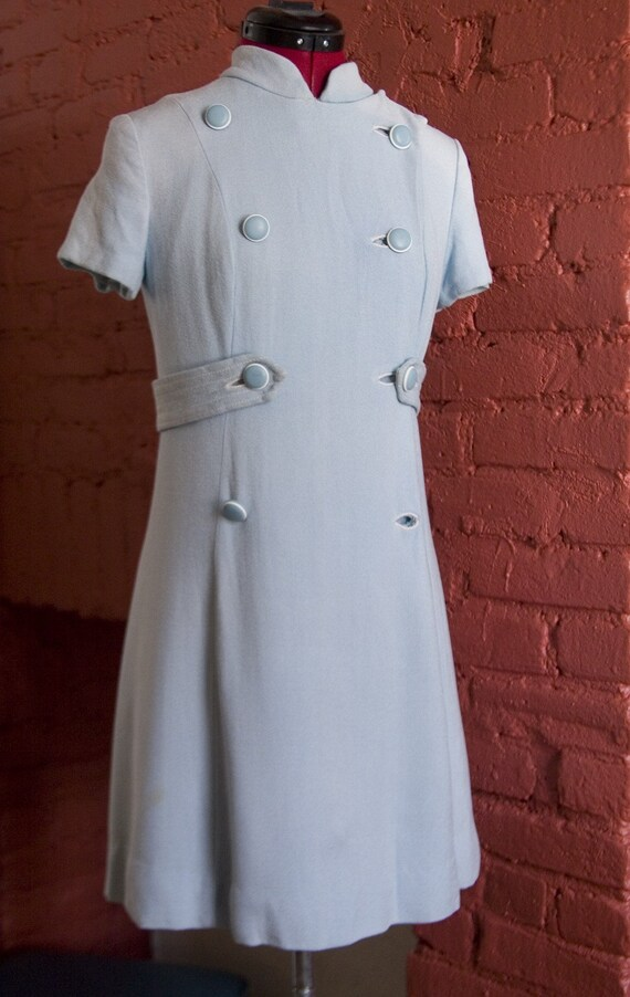 1960s Quintessential Double-Breasted Coat Dress- S/M