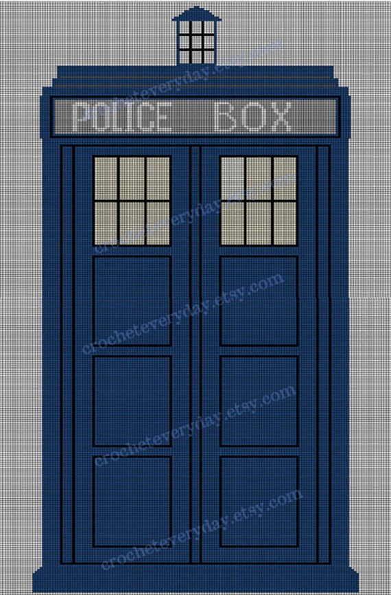 Graph  PDF  -  Police Box  Blanket   -  GRAPH for crochet