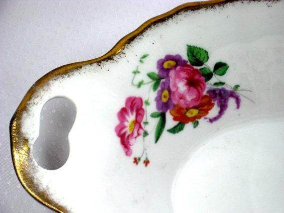 40s Lady Angela Serving Dish Sweetmeat Bowl Royal Albert China Flower Design
