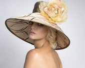 Items similar to Couture Derby Hats, Nude Lampshade Hat on