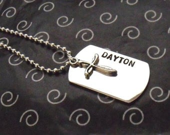 DOG TAG with Cross - Perfect First Communion Gift