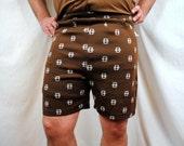 Vintage 1970s Men's Polyester Shorts