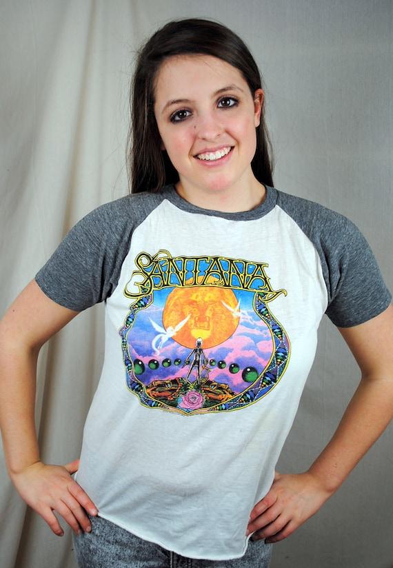 Authentic Vintage 1979 Santana Ringer Tee Shirt