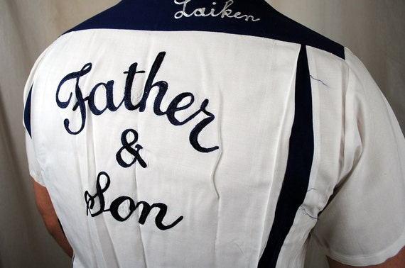 1950s Union Made Embroidered Bowling Shirt - RARE