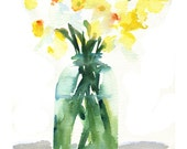 Mason Jar Daffodils  4.22.12  8.15 am