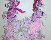 Pink Crochet RagBag