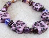 Animal  Print Artisan Lampwork Bracelet- SHOP CLOSING SALE!