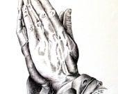 Praying Hands Giclee Print Of My Original Work