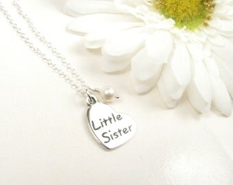 Little Sister Necklace // Little Sister Jewelry // Gift for New Baby Sister // Sister Jewelry