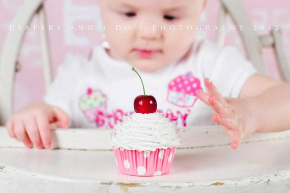 Tea Party FAKE CUPCAKE for alice in wonderland Theme party  girls room decoration bakery decoration white icing and pink polka dot liner