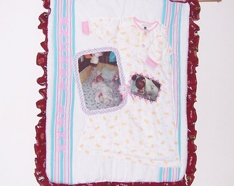 Baby Memory Quilt, Wall Hanging or Wall Decoration