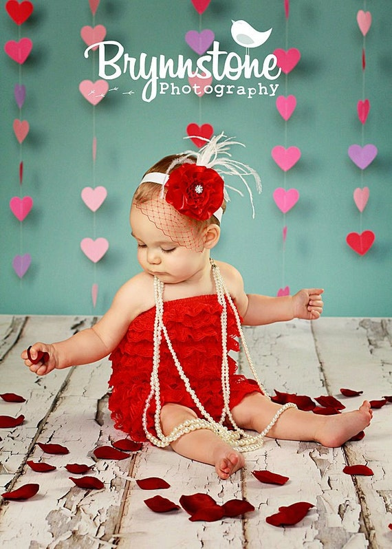 You Pick Size. Chicaboo Red Ruffled lace petti romper / bloomer. Sizes for ages newborn to 4/5 years. More Colors available