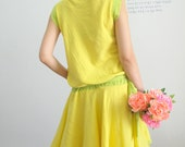 Sale 30% off / Happy with Simply Lemon Yellow Dress
