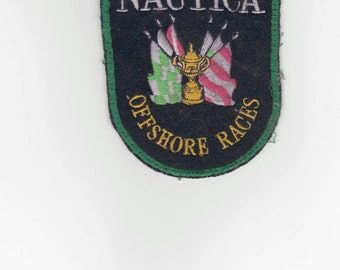 Vintage Nautica Racing Patch. 4 inch. Embroidered Cloth Original.  Offshore Races.