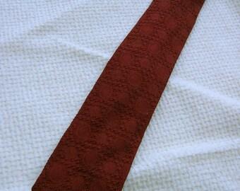 50's 60's Vintage Silk Tie.  Beautiful Patterned Necktie.  Mod, Eames era, Mad Men, Beatles, Rockabilly.