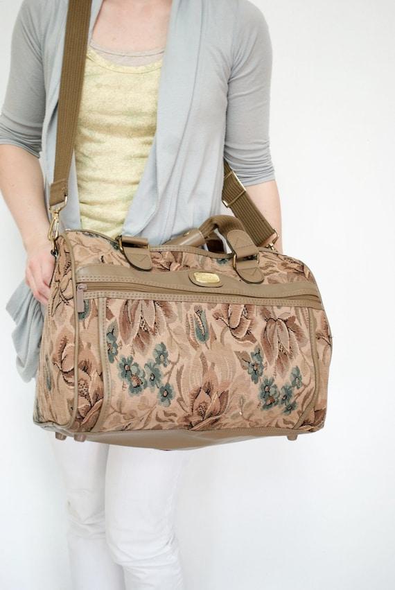 Vintage Carry On Suitcase, JORDACHE Carpet Bag SALE