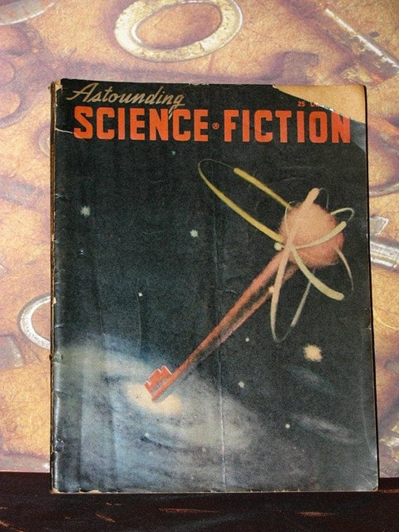 Astounding Science Fiction, August 1948, antique pulp fiction magazine