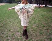 Bad 80's Batwing Dolman Designer Dress One Size....Costume....Cleopatra....Sheena Queen of the Jungle...Rhinestones