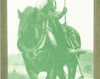 Vintage End of the Day Draft Horse Illustrated Bookmark - Laminated
