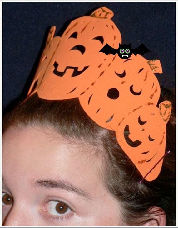 Halloween Pumpkin Patch Tiara to Wear this Halloween Seasonal Costume Party Hostess Crown
