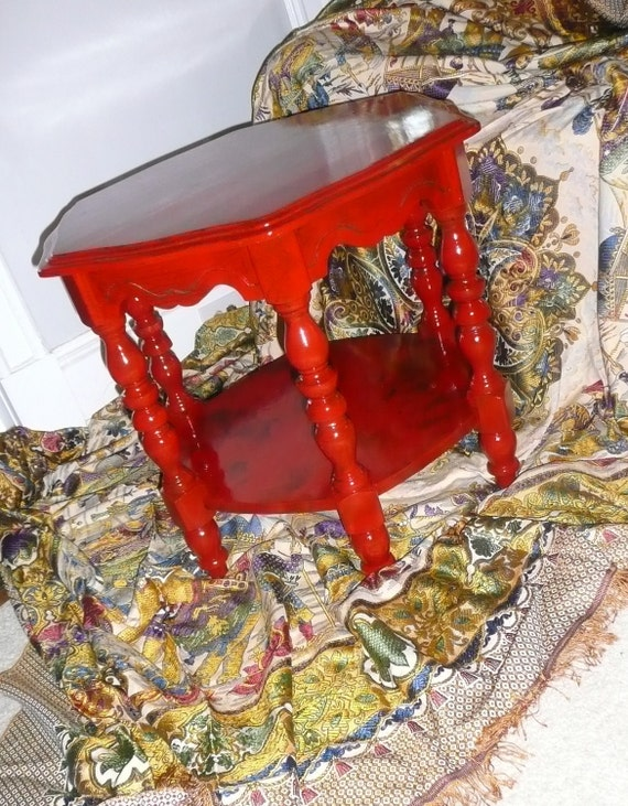 Jazzy Poppy Coffee Table Artisan Finish Vintage Poppy Cottage Painted Furniture