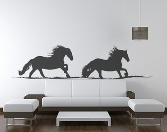 Horse decal-Horse sticker-Friesian horse decal-Western wall decal-Horse wall decor-12 X 48 inches,236-HS