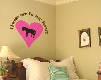 Horse-Horse sticker-Vinyl wall decal-Horse decal-Quote-Wall words-38 X 36 inches.110-HQ