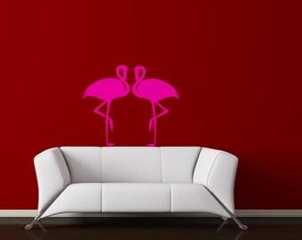 Flamingo decal-Flamingo sticker-Bird decal-Wall decor-32 X 28 inches,2034 -N