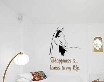 Horse, Arabian Horse Decal, Quote Wall Sticker, Wall Words Decal, Girls Room