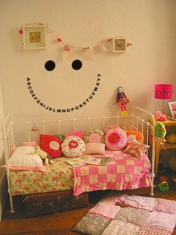 ABC decal, Alphabet sticker, Nursery wall decal, Educational wall decal, Girls Boys bedroom decal, 20 X 28 inches, 627-KA