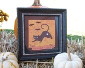 Scaredy Cat Black and Orange Halloween Collage Picture Frame