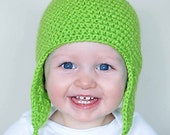 Froggy Earflap Hat Crochet Pattern *Instant Download*(Permission to sell all finished products)