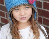 Chunky Earflap Hat Crochet Pattern *Instant Download* (Permission to sell all finished products)