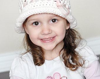 Sofie Roly Brim Hat Crochet Pattern *Instant Download*(Permission to sell all finished products)