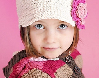 Anna Cap Crochet Hat Pattern *Instant Download* (Permission to sell all finished products)