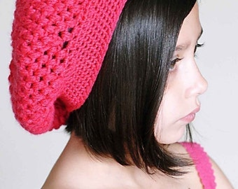 The Slouch Crochet Hat Pattern *Instant Download*(Permission to sell all finished products)